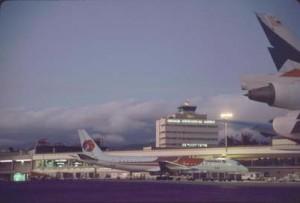 Hawaiian Airlines at Honolulu International Airport, 1987.