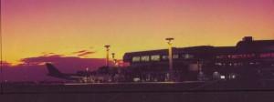 Sunset at Honolulu International Airport, 1987.