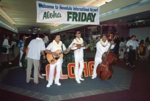 Aloha Friday program, Honolulu International Airport, 1987.