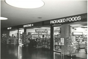 Concessions at Honolulu International Airport, August, 1984.
