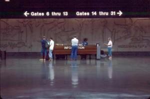 Visitor Information Desk, Honolulu International Airport, 1987.