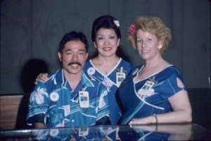 Visitor Information Program staff, Honolulu International Airport, 1987.