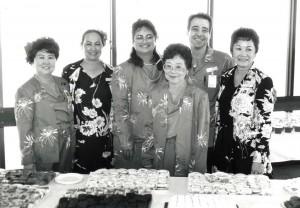 Visitor Information Program hostesses at Commuter Terminal Dedication, Honolulu International Airport, June