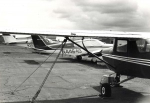 South Ramp General Aviation area, Honolulu International Airport, 1980s.