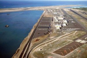 South Ramp and Reef Runway at Honolulu International Airport, 1987.