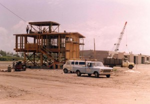 Construction of hangars, Dillingham Field, Hawaii, 1982.