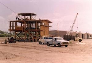 Construction of hangars, Dillingham Field, Hawaii, 1982.