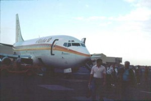 Aloha Airlines at Honolulu International Airport, 1990s.