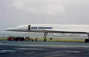 Air France Concord, Honolulu International Airport, 1993.