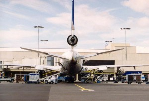 Continental Airlines at Honolulu International Airport, 1994.