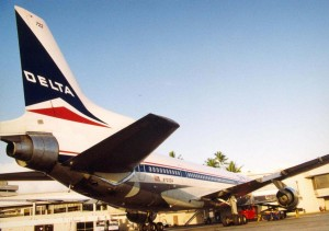 Delta Airlines at Honolulu International Airport, 1994.