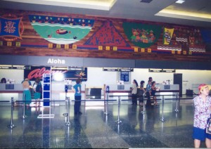 Ticket Lobby, Interisland Terminal, Honolulu International Airport, 1995.