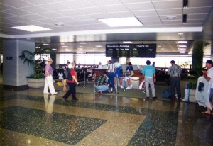 Security Screening, Interisland Terminal, Honolulu International Airport, 1995.