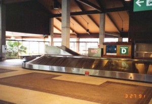 Baggage Claim, Lihue Airport Terminal, Kauai, March 27, 1991.