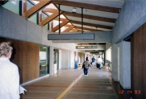 Walkway to Gates, Kahului Airport, Hawaii, December 14, 1993.