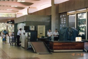 Agricultural inspection, Kahului Airport, Hawaii, December 14, 1993.