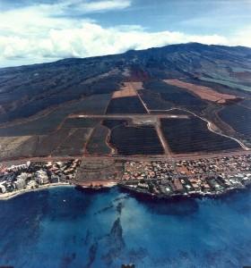 Kapalua Airport, Maui, August 30, 1992.