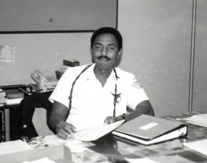 Martinez Jacobs, Firefighting Officer, Airports Division, Hawaii Department of Transportation, 1990s.