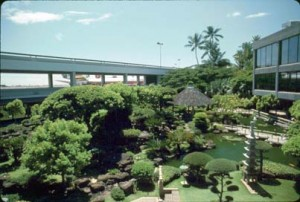 Japanese Garden, Honolulu International Airport, 1990s.