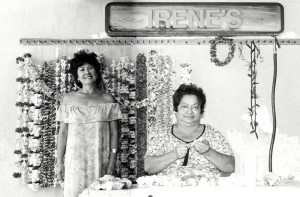 Irene's Lei Stand, Honolulu International Airport, 1990s.