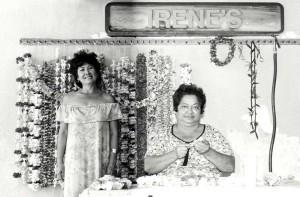 Irene's Lei Stand, Honolulu International Airport, 1990s.