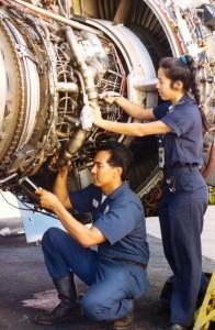 Engine repairs, Honolulu International Airport, 1994.