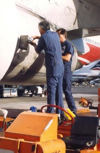 Aircraft maintenance, Honolulu International Airport, 1994.