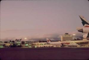 Sunset at Honolulu International Airport, 1991