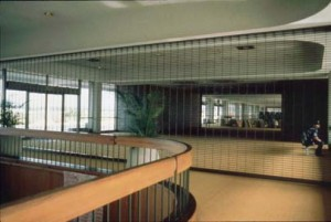Second level, passenger hold rooms, Ewa Concourse, Honolulu International Airport, 1990s.