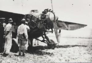 Dole Derby winner Art Goebel landed at Wheeler Field, August 17, 1927.