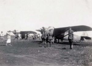 Dole Derby winner Art Goebel's Woolaroc and runnerup Martin Jensen's Aloha at Wheeler Field, August 17, 1927.