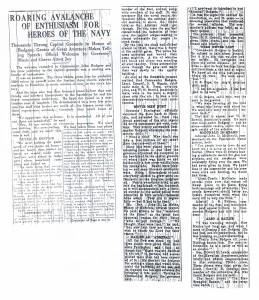 Roaring of Avalanche of Enthusiasm for Heroes of Navy, 9-13-1925
