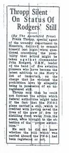Thropp Silent on Status of Rodgers' Still, 9-14-1925