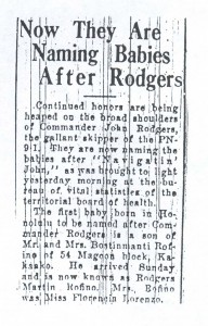 Now They Are Naming Babies After Rodgers, 9-15-1925