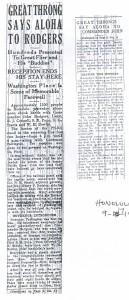Great Throng Says Aloha to Rodgers, 9-17-1925
