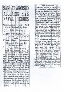 San Francisco Acclaims Five Naval Heroes, 9-25-1925