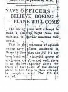 Navy Officers Believe Boeing Plane Will Come, 9-11-1925