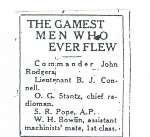 The Gamest Men Who Ever Flew, 9-11-1925