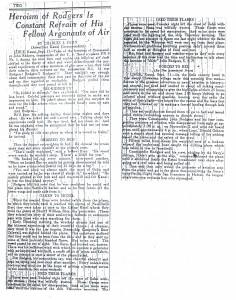 Heroism of Rodgers is Constant Refrain of His Fellow Argonauts, 9-12-1925