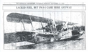 Lacked Fuel, But PN-9 Came Here Anyway, 9-12-1925