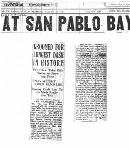 Planes Practice at San Pablo Bay, 8-30-1925