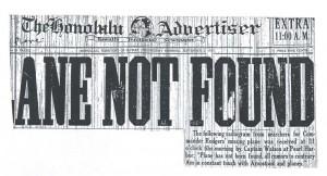 Plane Not Found, 9-2-1925