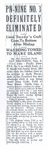 PN-9 No. 3 Definitely Elimated, 9-3-1925