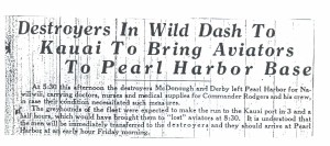 Destroyers in Wild Dash to Kauai to Bring Aviators to Pearl Harbor, 9-10-1925