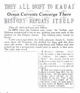 They All Drift to Kauai, History Repeat Itself, 9-10-1925
