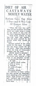 Diet of Air Castaways Mostly Water, 9-11-1925