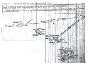 Drift of Commander Rodgers' Plane, 9-11-1925