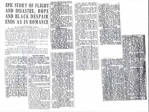 Epic Story of Flight & Disaster, Hope & Black Despair Ends as in a Romance, 9-11-1925