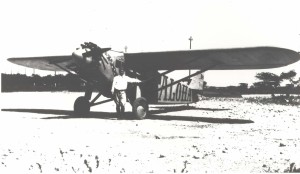 Martin Jensen was the runner-up in the Dole Derby in his plane the Aloha, Wheeler Field, August 17, 1927.