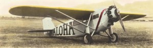 Martin Jensen's Aloha which finished second in the Dole Derby, ending at Wheeler Field, August 17, 1927.